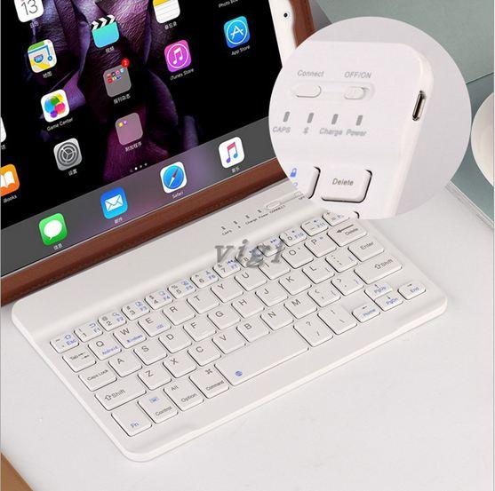 可充電手機平板小鍵盤 安卓蘋果無線 藍芽鍵盤 iPad air mini便攜 ATF