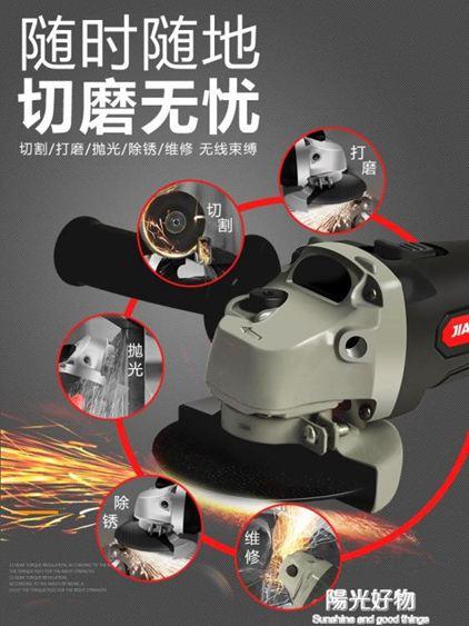 打磨機大功率充電式無刷角磨機鋰電切割磨光拋光打磨電動手砂輪手磨工具 220V NMS陽光好物