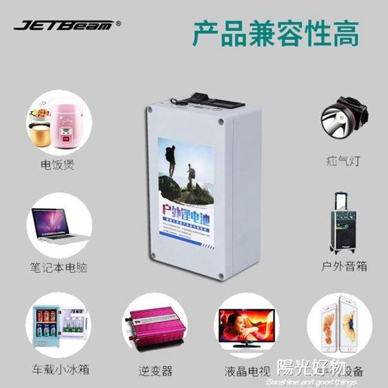 大容量鋰電池小體積超輕鋰電池12V大容20ah25ah大容量18650戶外動力可充電電瓶 NMS陽光好物