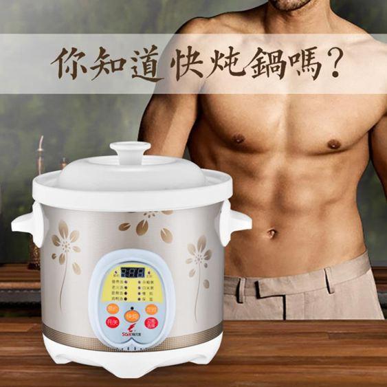 電燉鍋全自動陶瓷預約小熬煮粥神器養生多功能家用煲湯砂鍋