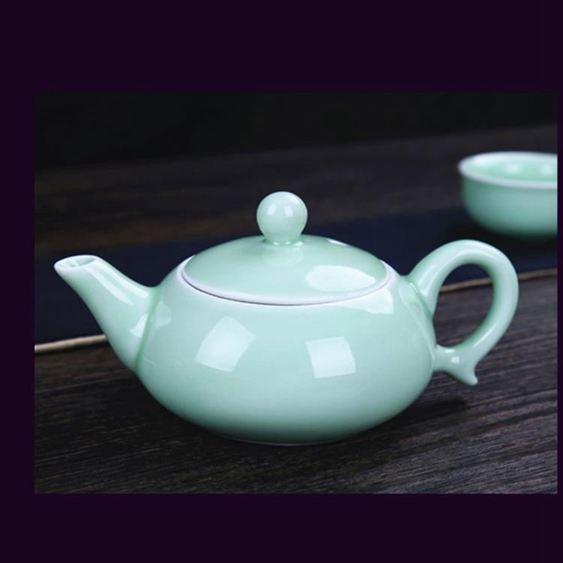 新品7件套中式包郵套裝家用辦公陶瓷杯泡茶器杯中魚整套功夫茶具