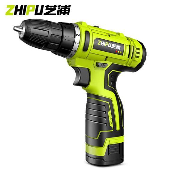 芝浦鋰電鉆12V充電式手鉆小手槍鉆電鉆家用多 電動螺絲刀電轉 免運