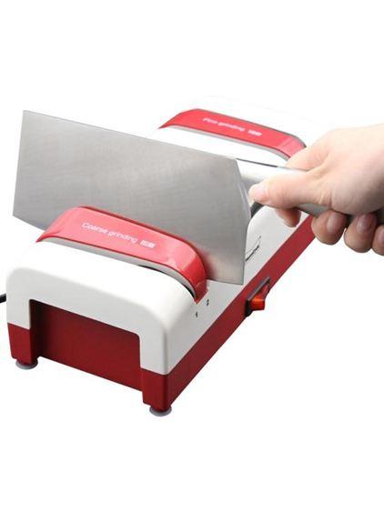 磨刀器 Momscook磨刀器廚房家用電動多功能定角磨刀器磨刀石快速磨菜刀剪