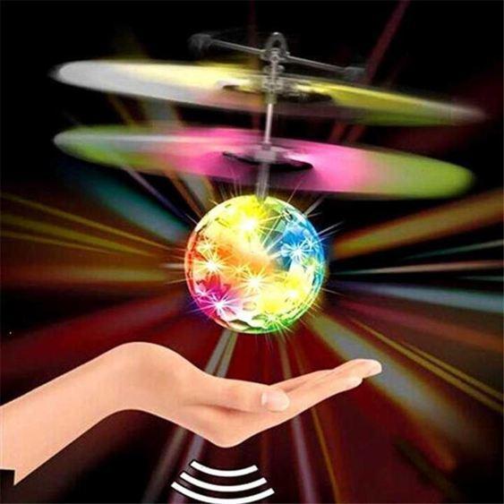 多色閃光充電懸浮水晶球感應飛行器遙控耐摔飛機小黃人61兒童玩具HM