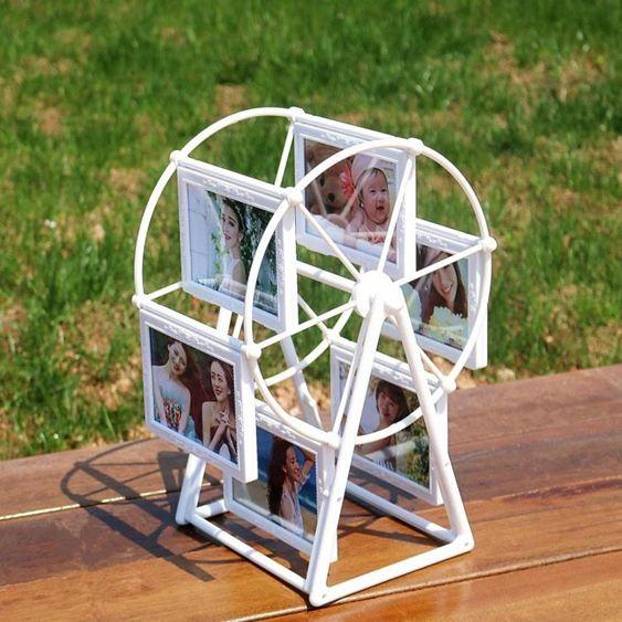 創意生日禮物浪漫DIY定制照片風車旋轉相框擺臺相冊結婚照小禮品