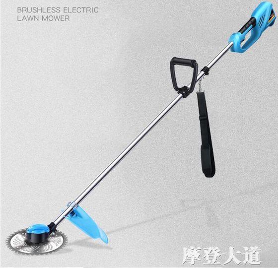 優動無刷充電式電動割草機家用多 農用小型除草背負開荒打草機QM