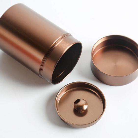 茶葉罐 金屬小茶罐便攜迷你旅行茶葉罐小號隨身不銹鋼鋁合金儲茶罐密封罐