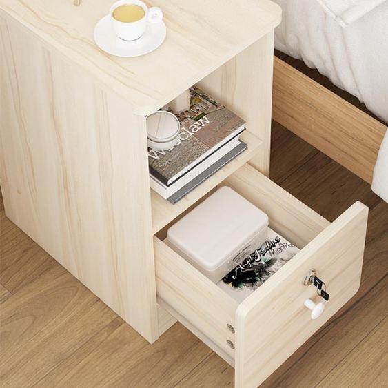 床頭櫃 床頭櫃簡約20-25-30-35cm 超窄床邊儲物櫃現代迷你臥室收納小櫃子ATF