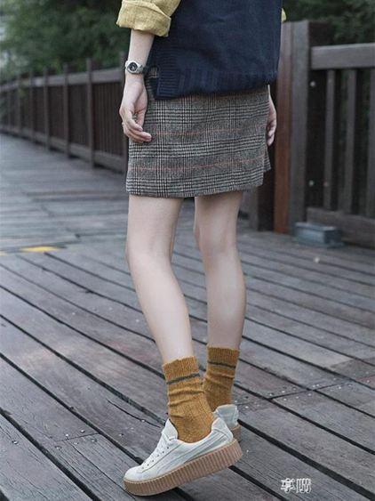 日系復古堆堆襪中筒韓版學院風潮襪個性花邊羊毛襪歐美街頭潮