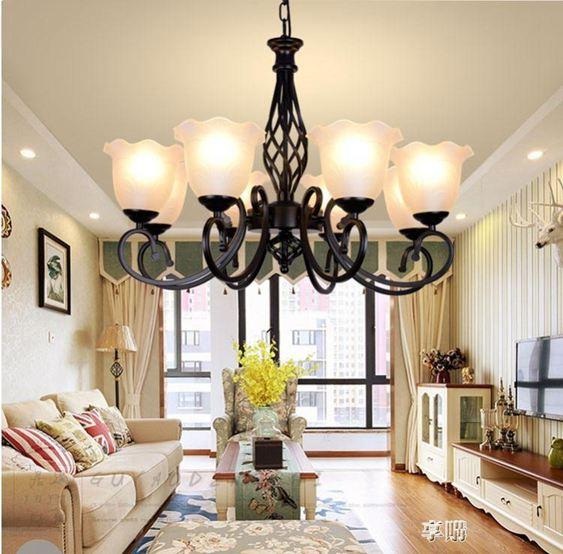 客廳燈具創意吊燈飾簡約現代餐廳臥室北歐美式田園鐵藝地中海 ATF