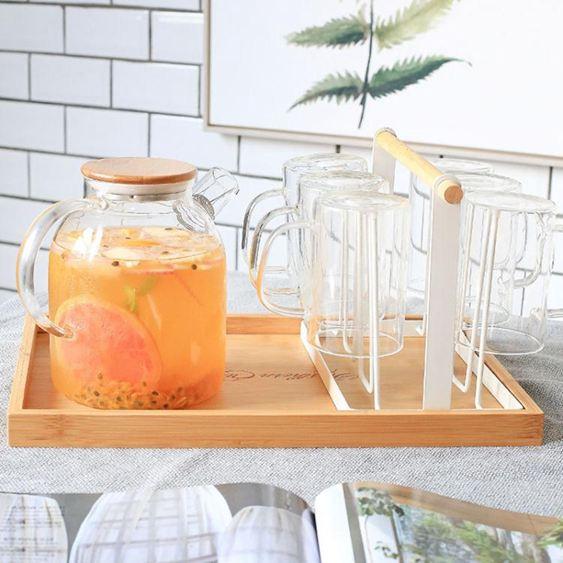 創意家用收納杯子架 瀝水置物架杯架水杯架 托盤玻璃水杯掛架  ATF