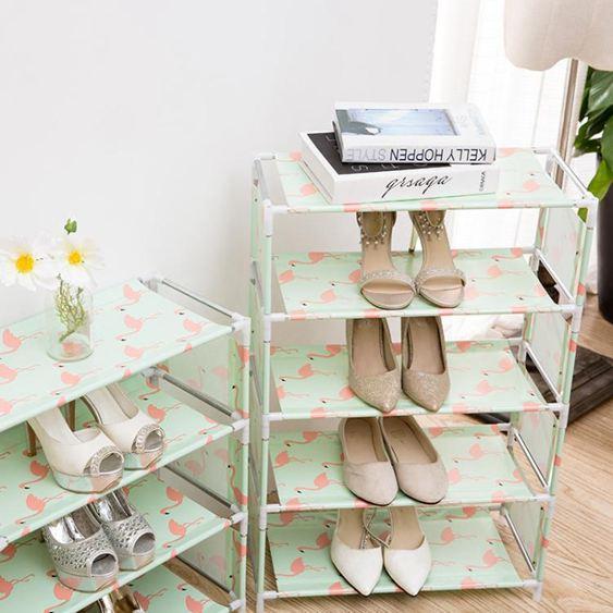 鞋架簡易家用組裝經濟型宿舍寢室鞋架收納布藝防塵鞋櫃多層鞋架子   ATF