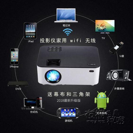 福滿門安卓智慧辦公投影機3D高清手機投影儀家用無線wifi小型家庭影院HM