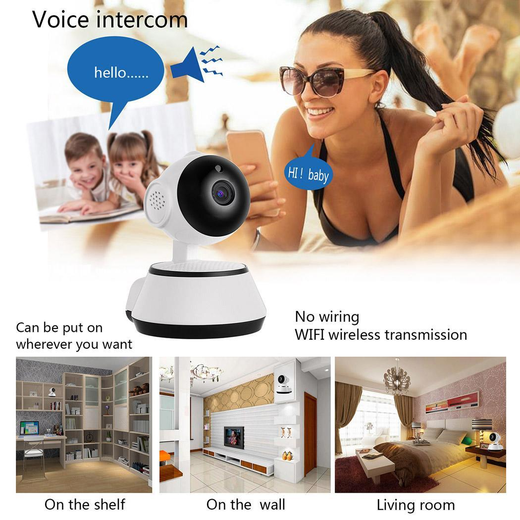 WiFi Baby Monitor Alarm Security Camera HD 720P IR Night Vision 5