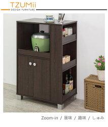 櫥櫃收納/櫥櫃/廚房 TZUMii 日式雙門收納廚房櫃