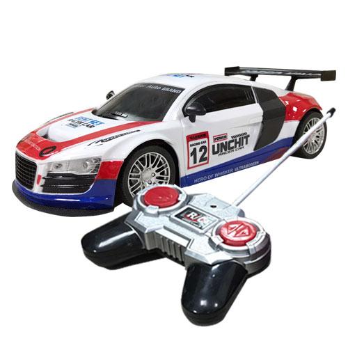 電動遙控車 尾翼版 紅白款 遙控電動車 跑車 玩具車 玩具 1:18模型 - 692827