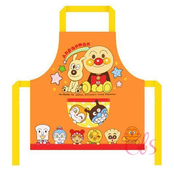 日本麵包超人 兒童圍裙 橘 100cm ☆艾莉莎ELS☆