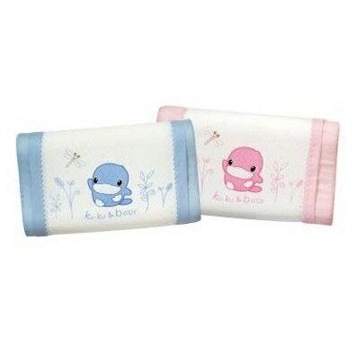 台灣【Kuku 酷咕鴨】涼感幼兒枕-6個月以上(粉/藍) - 限時優惠好康折扣