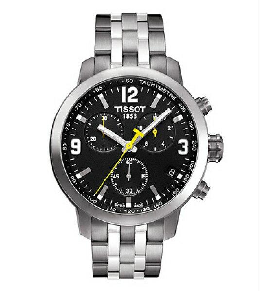 TISSOT天梭T0554171105700 PRC200石英計時腕錶/黑面42mm