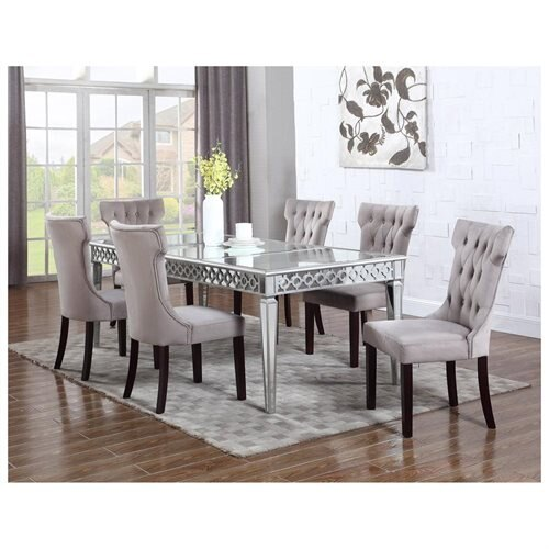 Furniture Import and Export Inc: 610/ T1840 Alyssa Silver Mirrored ...