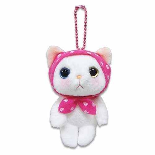 Choo Choo cat 貓咪可愛貓咪粉紅連帽裝扮療癒系公仔絨布娃娃 吊飾 高9cm 7
