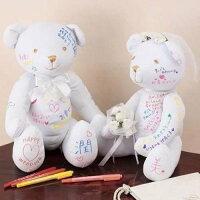 婚禮小物推薦到日本代購預購幸福浪漫婚禮小物婚禮熊結婚熊祝福熊結婚泰迪熊附8色筆結婚禮桌必備 165-133