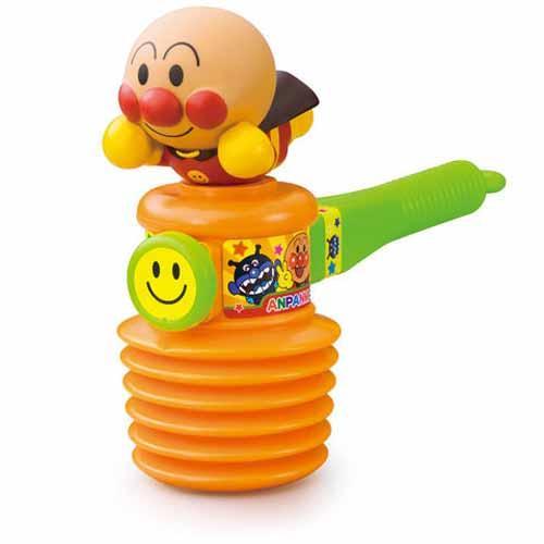 日本代購預購 滿600元免運費 付款 麵包超人 槌子玩具 發聲槌子 小孩抗議 707-360
