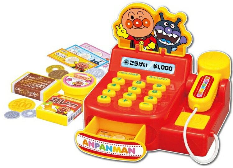 日本代購預購 付款 滿600元免運費 麵包超人 結帳收銀機遊戲 扮家家酒 707-470