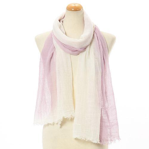 日本代購預購  滿600免運費 日本製 植物染 女士絲巾 圍巾 圍脖 817-033 83