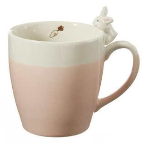 日本代購預購日本製粉紅兔子立體造型馬克杯杯子茶杯水杯咖啡杯769-187