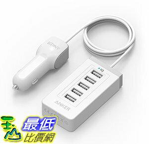 [106美國直購] Anker 40W 5-Port USB Car Charger with PowerIQ Technology for iPhone and more 車載充電器