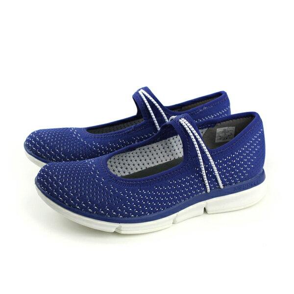 MERRELLZOESOJOURNMJKNITQ2平底鞋娃娃鞋藍色女鞋MLML93810no895