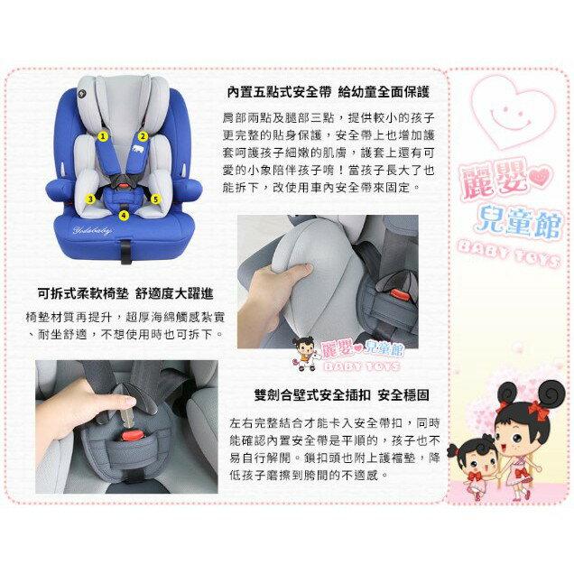 麗嬰兒童玩具館~YODA優寶貝-成長型兒童安全座椅1-12歲.五點式安全帶.可調頭枕高低(貴族紅 / 雅仕藍 / 尊爵灰) 7