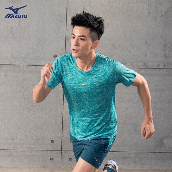 J2TA850532(湖綠)男路跑短袖T恤【美津濃MIZUNO】