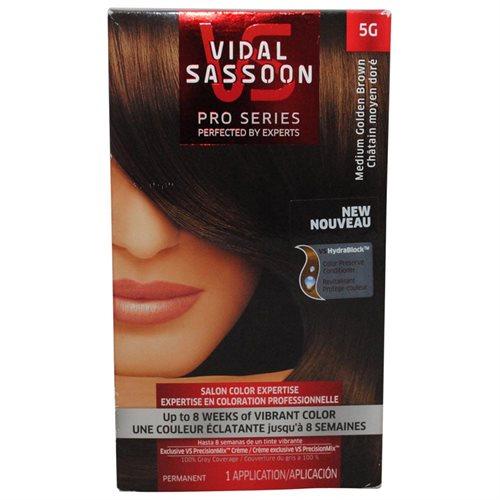 VIDAL SASSOON PRO SERIES HAIR COLORING #5G MEDIUM GOLDEN BROWN b73b7920170a582ac08f3d3daf13b304