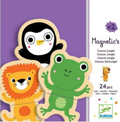 『121婦嬰用品館』DJECO 智荷 森林磁鐵拼圖