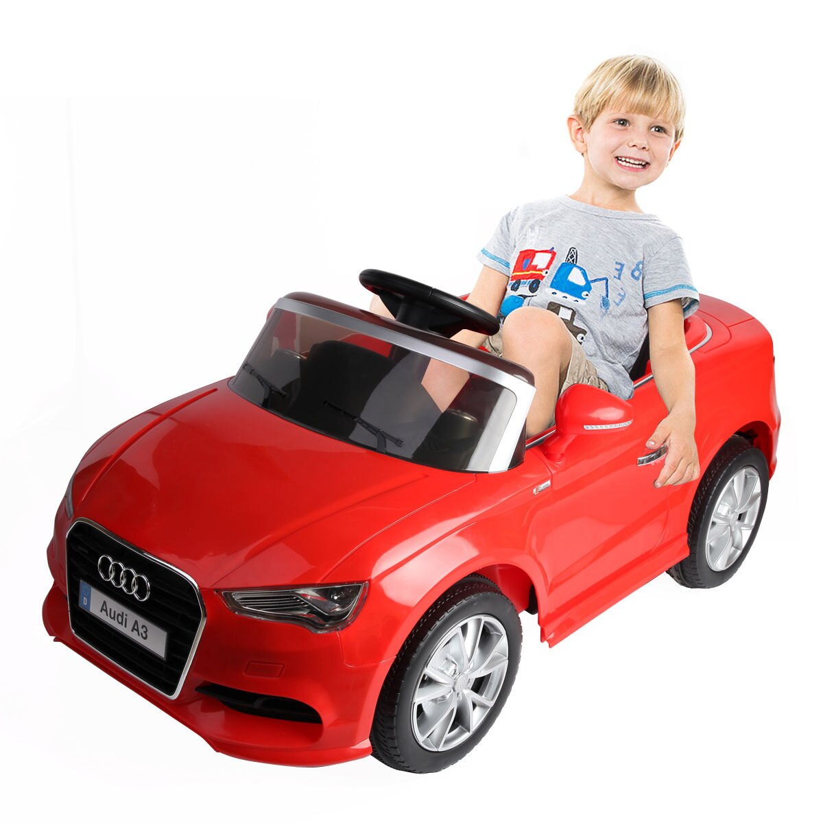 Costway: Costway 12V Audi A3 Licensed RC Kids Ride On Car
