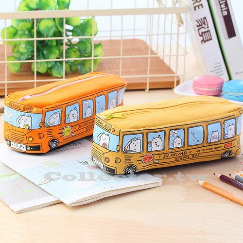 【L17070501】立體巴士School BUS筆袋 巴士筆袋 鉛筆盒 學生文具 學生獎品