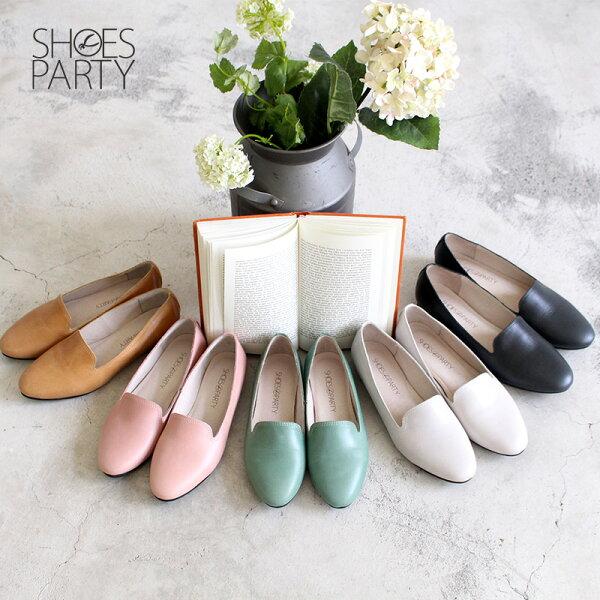 【C2-18307L】素面牛皮歐貝拉_ShoesParty