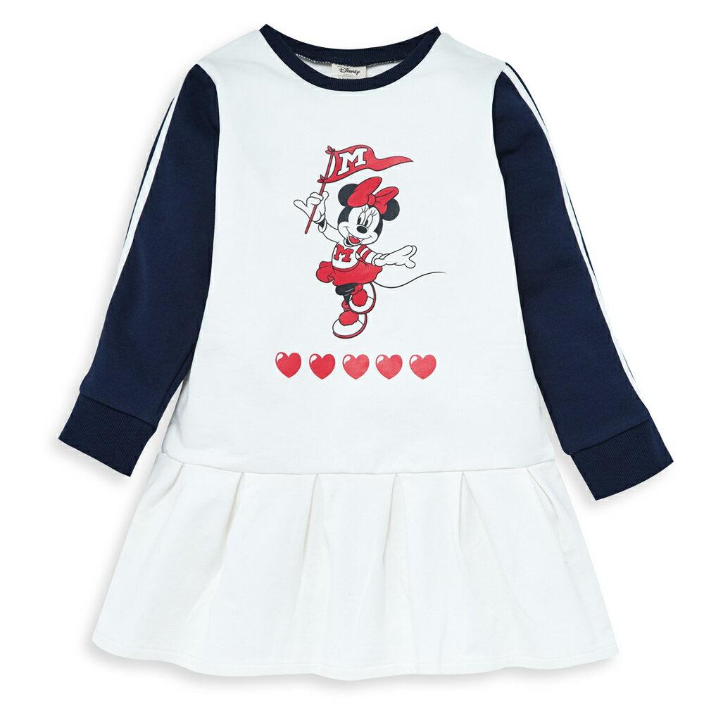 Disney 米妮系列運動啦啦隊洋裝-白色 - 限時優惠好康折扣