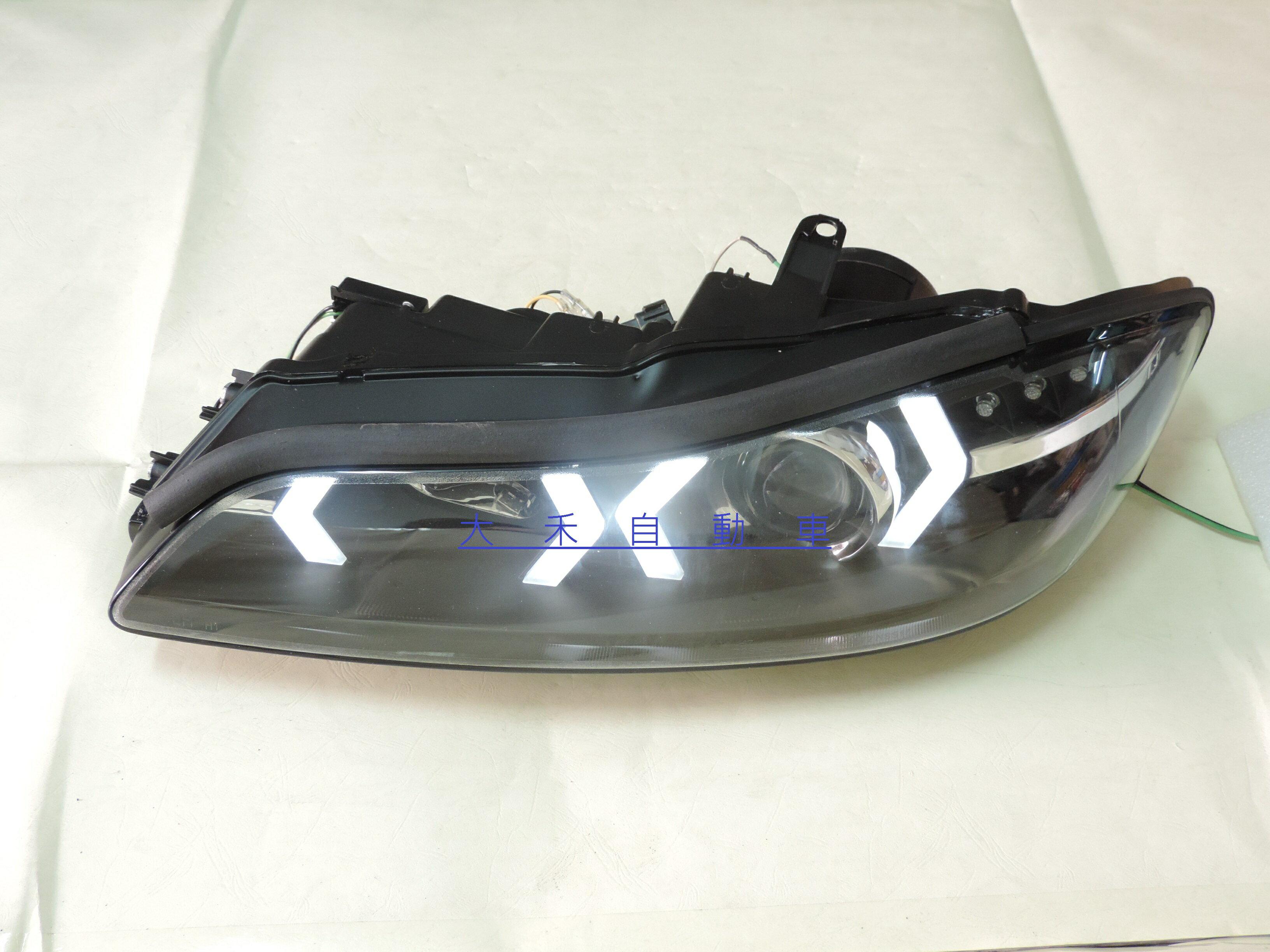 大禾自動車 NISSAN SILVIA S15 DRL劍型日行燈LED方向燈魚眼黑底大燈組