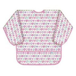 【美國Bumkins】防水兒童3-5歲 圍兜(長袖)-可愛花朵 BKAS-750【紫貝殼】