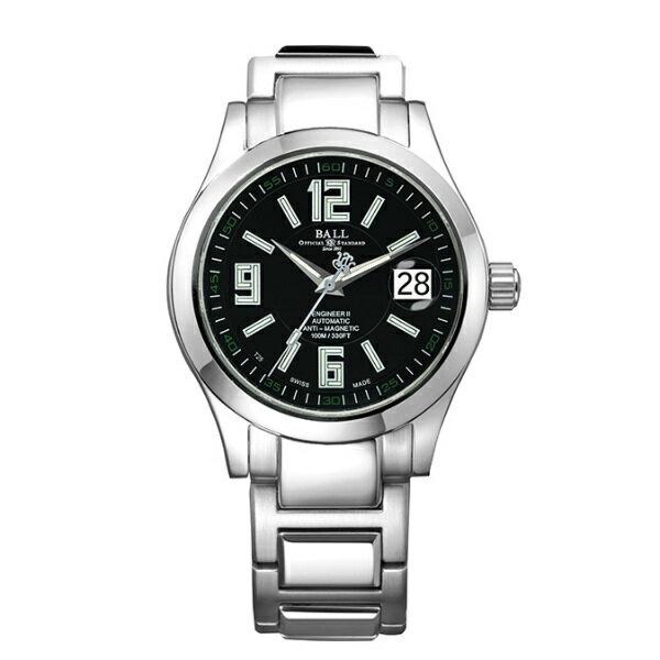 BALL 波爾錶NM1020C-S4-BK Engineer II工程師經典三針腕錶/黑面40mm
