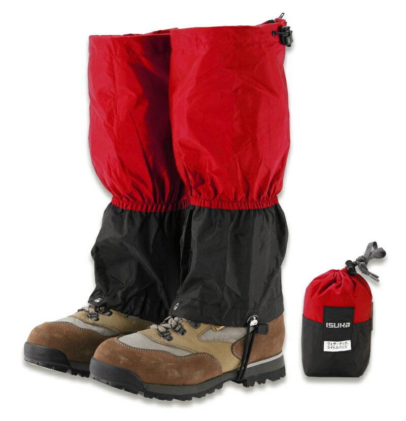 ├登山樂┤日本 ISUKA 輕量防水透氣綁腿 紅色 #B03IS03