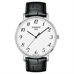 TISSOT 天梭表  T1096101603200  Everytime經典時尚紳士石英腕錶/黑+白 42mm