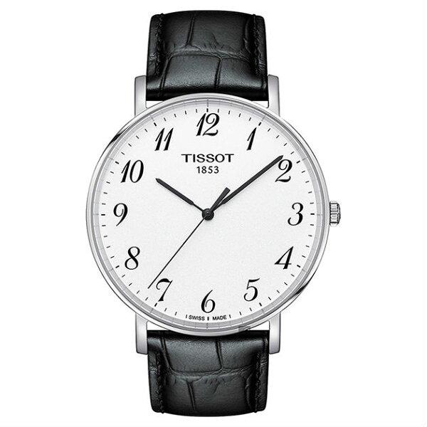 TISSOT天梭表T1096101603200Everytime經典時尚紳士石英腕錶黑+白42mm