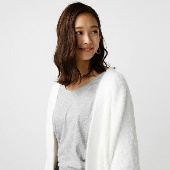 AZUL by moussy 毛絨短版 長袖 開衫 針織衫 外套 日本必買 日本直送 代購/日貨/雜誌