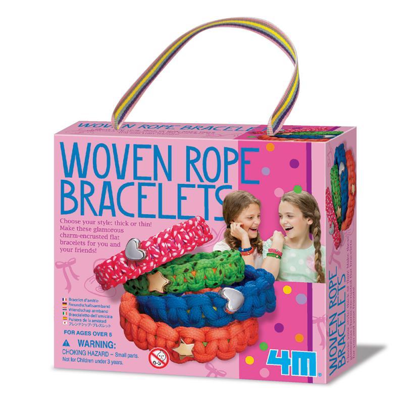 【4M】美勞創作系列 - 好朋友星星手鍊 Woven Rope Bracelets 00-04660