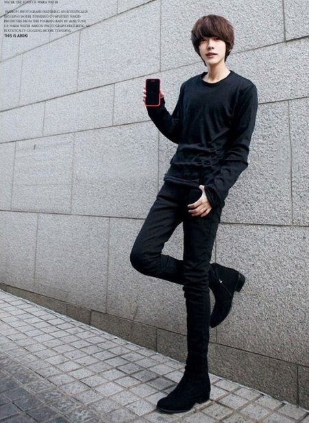 【JP.美日韓】 韓國 純黑 牛仔褲上班 工作褲 彈性 nike AF OVK MJ I6 M9 ZNIF USB
