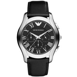 ARMANI 亞曼尼 經典雅痞計時腕錶 黑面